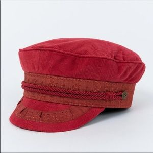 Brixton red newsboy cap size medium